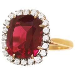 F & F Felger for J.E. Caldwell Tourmaline and Diamond Ring