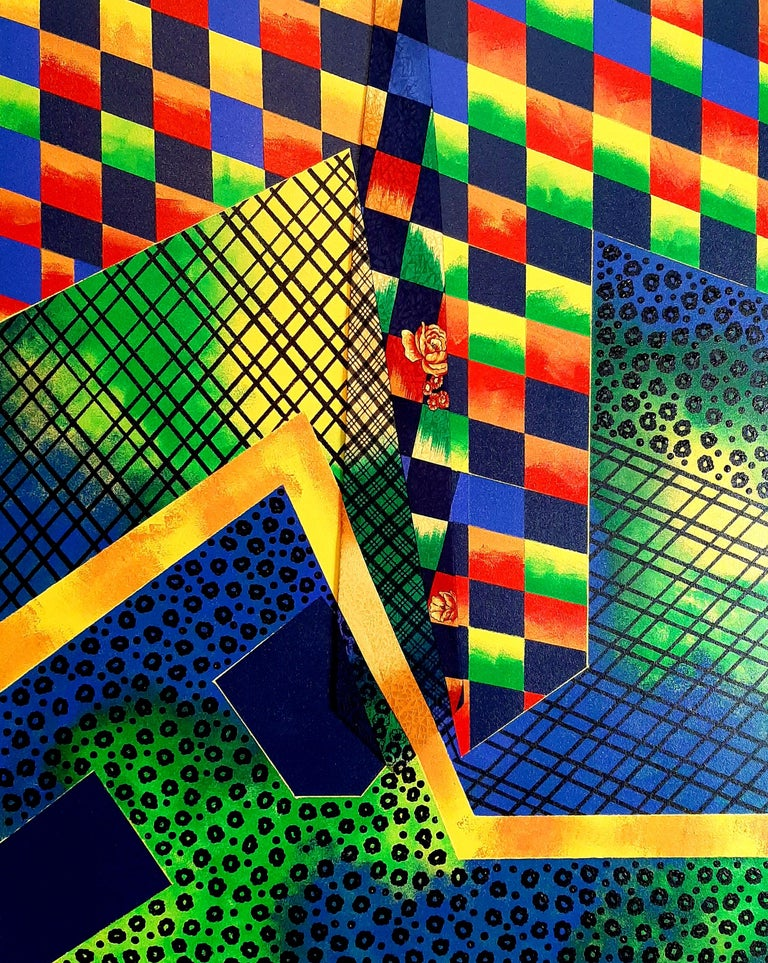 Geometric Collage, Abstract Painting - Mixed Media Art by F. Gregory Brown