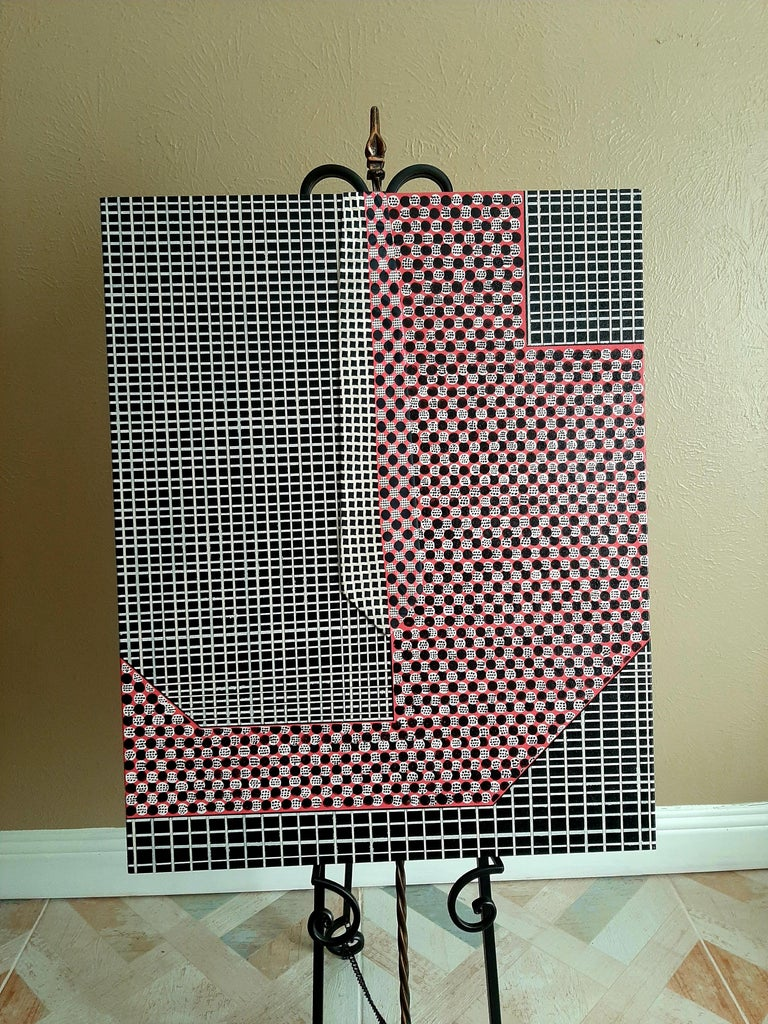 Lavish Grid, Abstract Painting For Sale 1