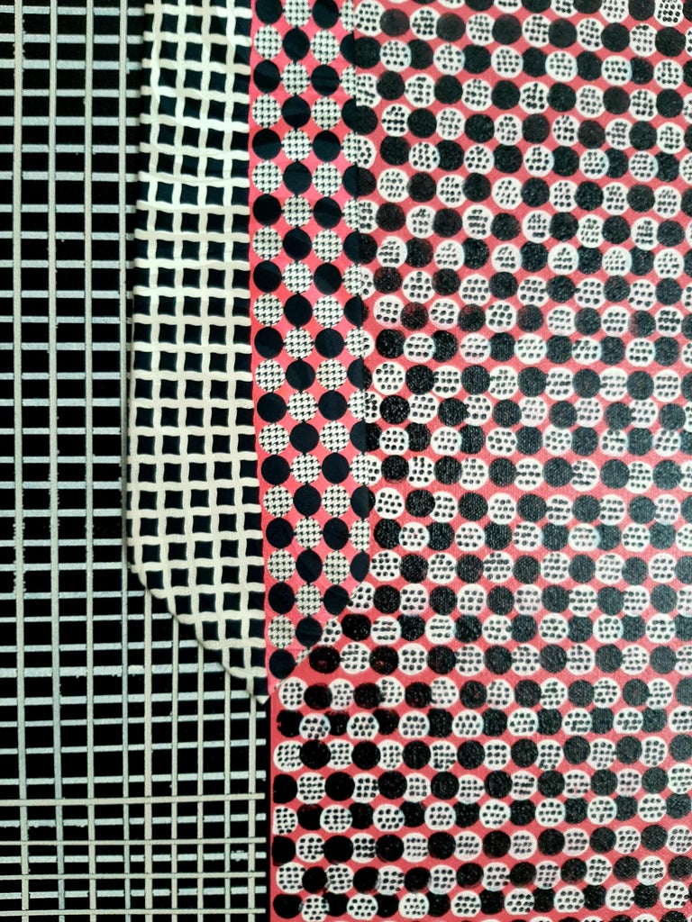 Lavish Grid, Abstract Painting For Sale 2
