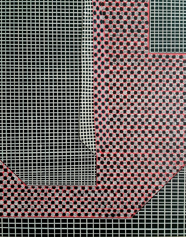 Lavish Grid, Abstract Painting - Mixed Media Art by F. Gregory Brown