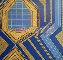 Royal Blues, Abstract Painting