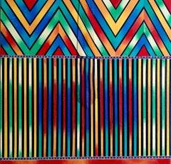 Versace Red Stripes, Abstract Painting