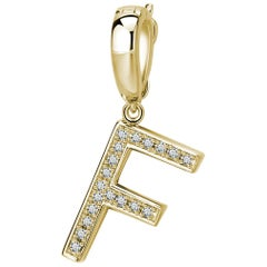 F Initial Pendant or Charm