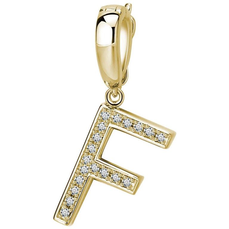 F Initial Pendant or Charm For Sale