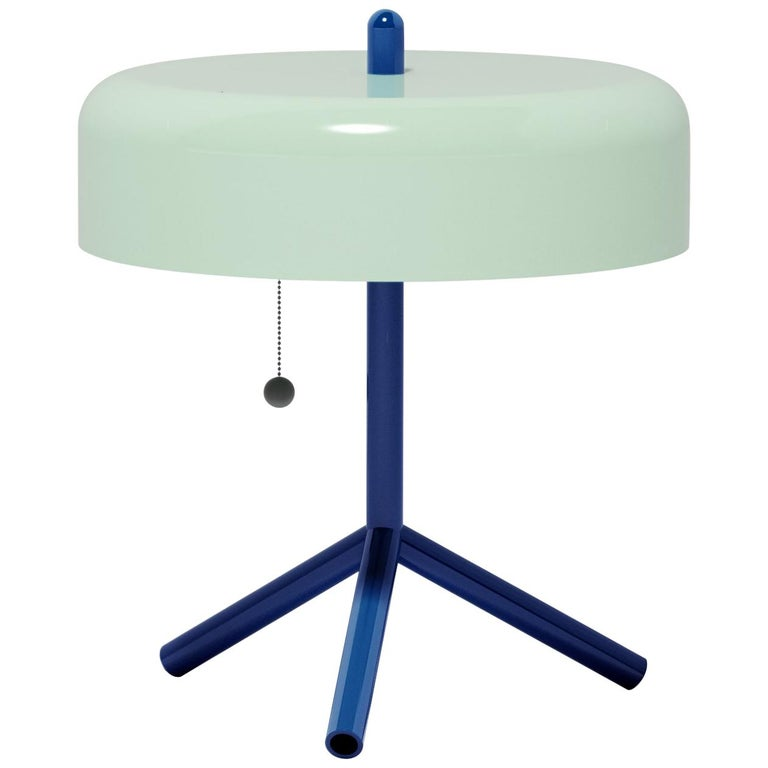 F/K/A Table Lamp in Mint, Cobalt Blue & Cherry Tomato by Jonah Takagi For Sale