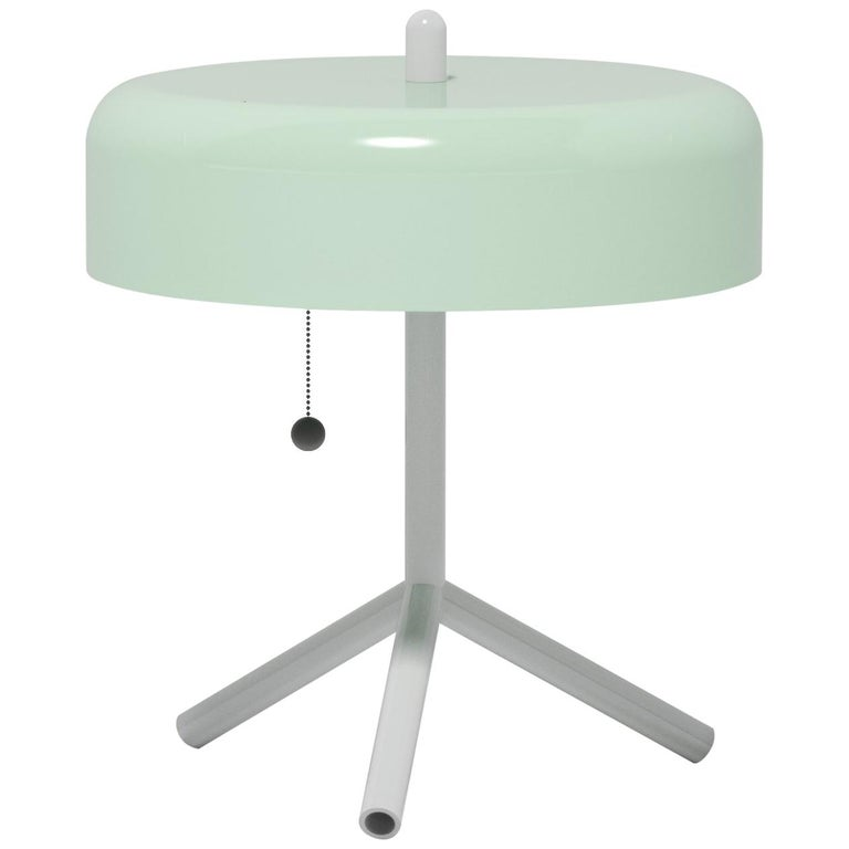 F/K/A Table Lamp in Mint, Light Grey and Navy Blue by Jonah Takagi For Sale