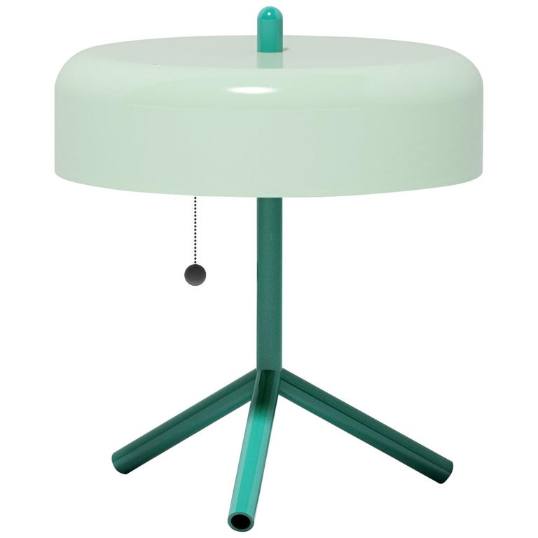 F/K/A Table Lamp in Mint, Opal Green and Asphalt Grey by Jonah Takagi For Sale