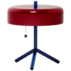 F/K/A Table Lamp in Purple-Red, Cobalt Blue and Cherry Tomato by Jonah Takagi