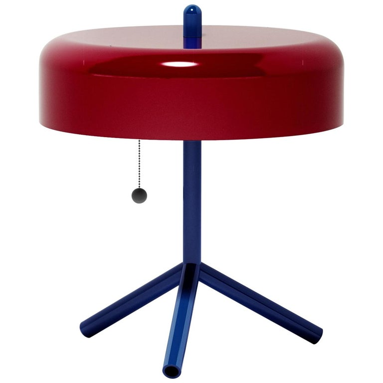 F/K/A Table Lamp in Purple-Red, Cobalt Blue and Cherry Tomato by Jonah Takagi For Sale