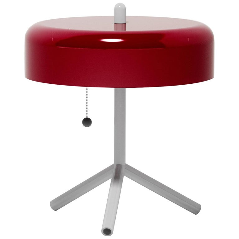F/K/A Table Lamp in Purple-Red, Light Grey and Navy Blue by Jonah Takagi For Sale