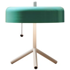 F/K/a Table Lamp in Teal, Cream & Cherry Tomato by Jonah Takagi