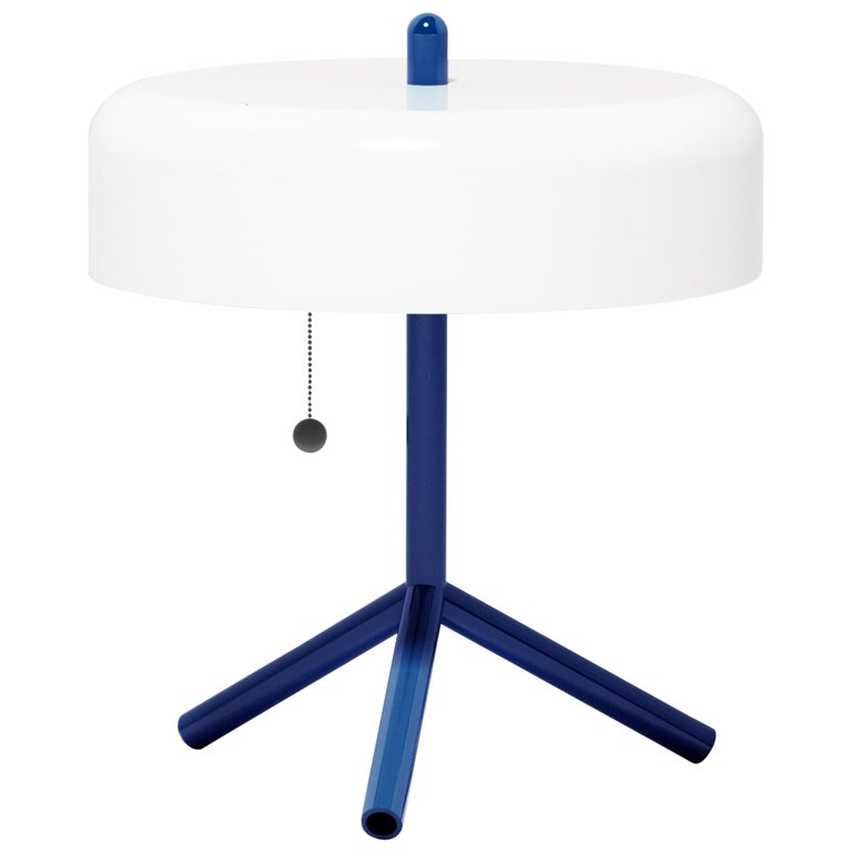 F/K/A Table Lamp in White, Cobalt Blue and Strimp by Jonah Takagi For Sale