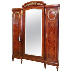 F. Linke Style Inlaid Armoire