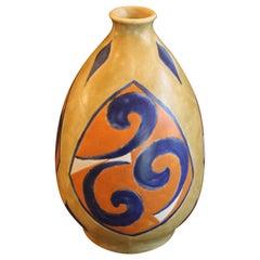 F. Moreau Art Deco Belgium Pottery Vase