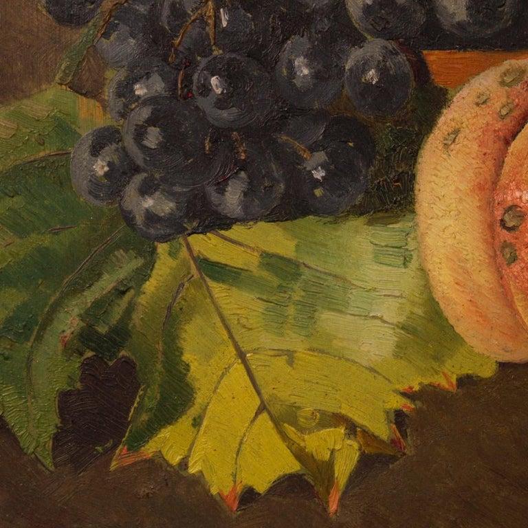 F. Vacchetti 19th Century Oil on Board Italian Still Life Painting, 1898 For Sale 6
