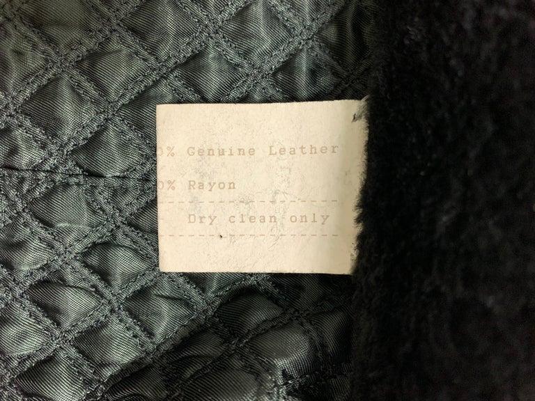 F/W 1993 Gianni Versace Black Leather Bondage Corset Sleeves Jacket Coat For Sale 2
