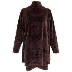 F/W 1994 Gucci Brown Velvet Baggy Mini Dress & Skirt Set