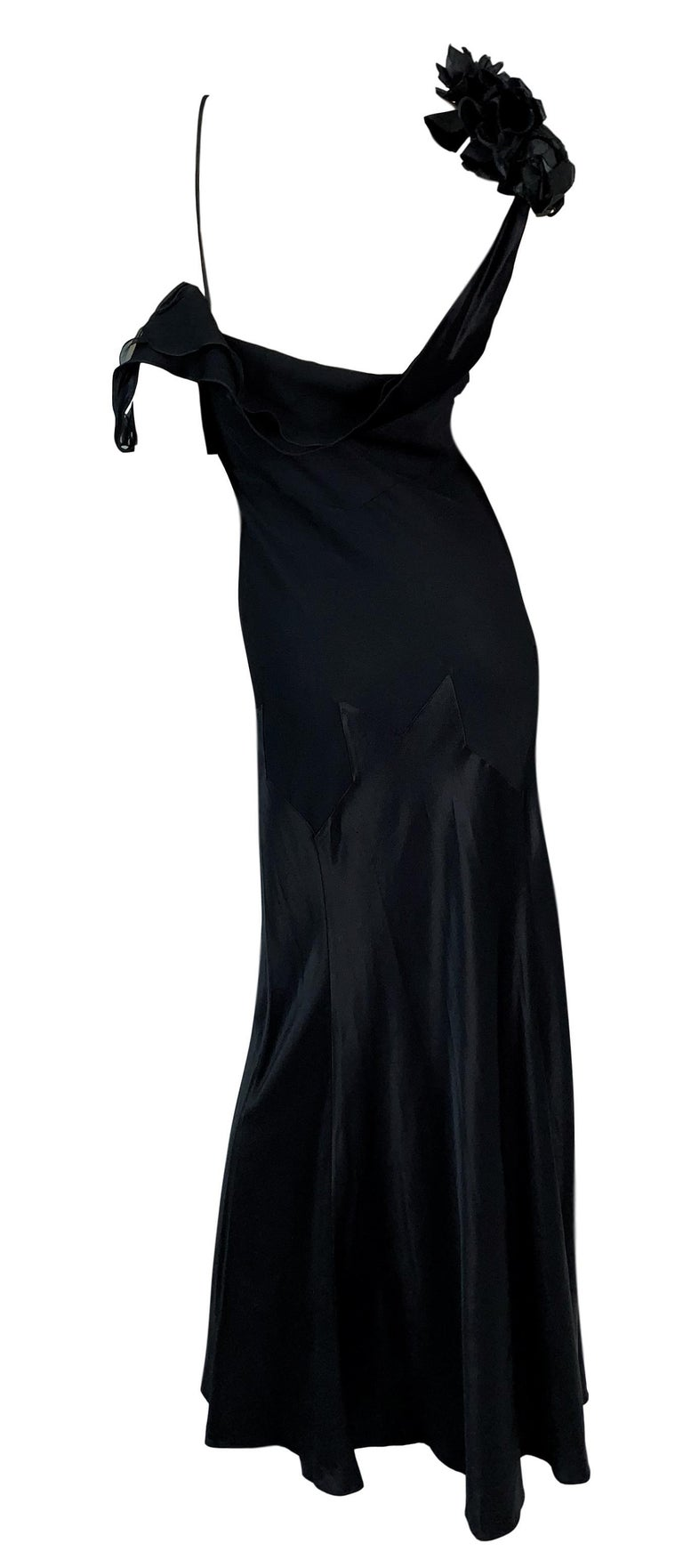 DESIGNER: F/W 1994 John Galliano runway dress- this dress has a slightly different left sleeve than what was shown on the runway and the piece in the MET.   Please contact for more information and/or photos.  CONDITION: Good- light wear- no holes or
