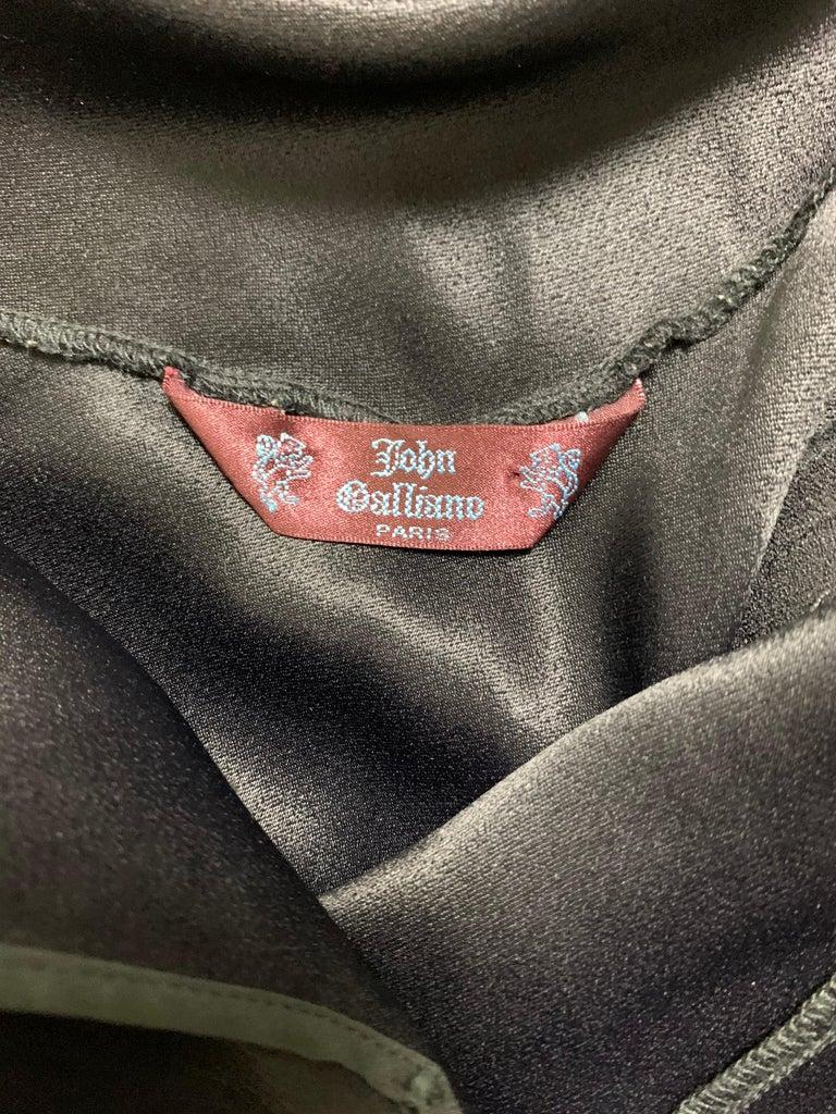 F/W 1994 John Galliano Runway Black Off Shoulder Flower Gown Dress For Sale 1