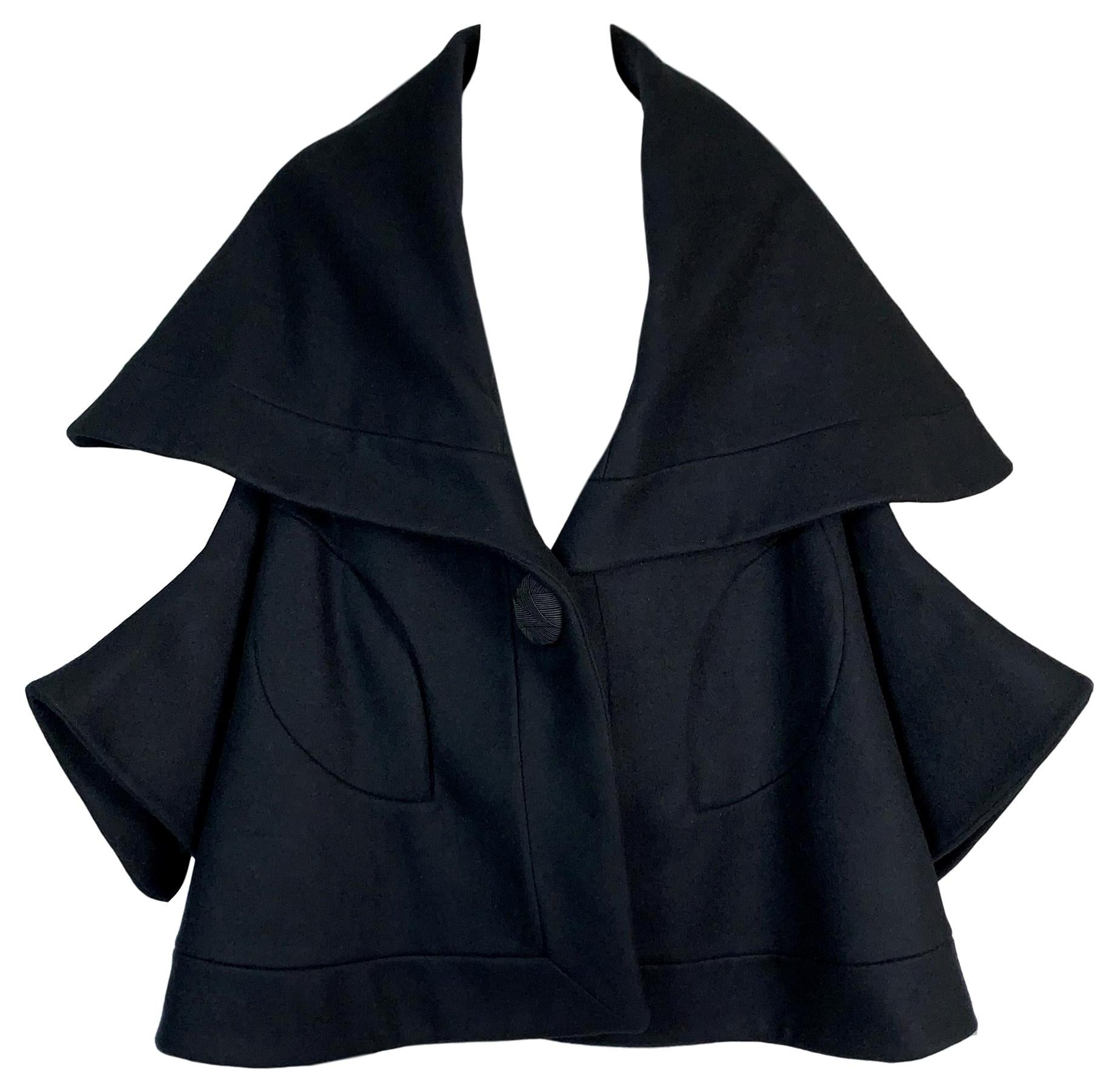 F/W 1995 John Galliano Runway Black Princess Coat Jacket