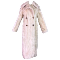 F/W 1996 Gucci by Tom Ford Blonde Faux Fur Full Length Coat Jacket
