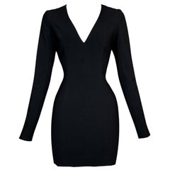 F/W 1997 John Galliano Black Bodycon L/S Mini Dress