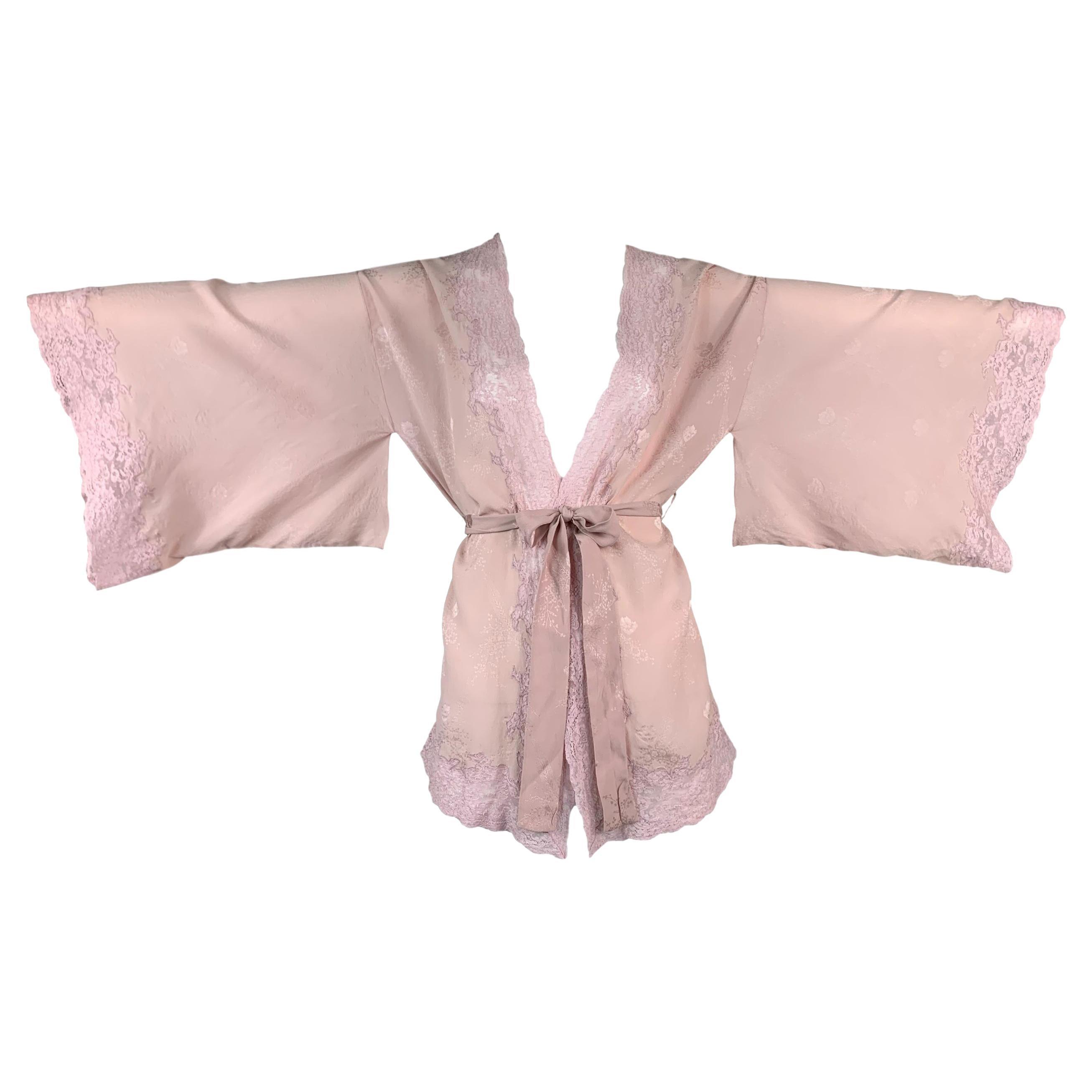 F/W 1998 Christian Dior by John Galliano Pink Silk & Lace Kimono Top
