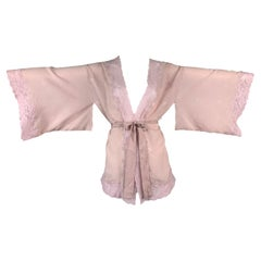 F/W 1998 Christian Dior by John Galliano Pink Silk & Lace Kimono Top