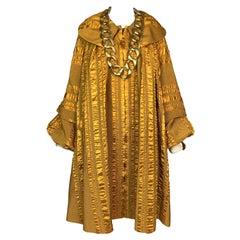 F/W 1999 Christian Dior John Galliano Gold Renaissance Swing Coat Dress