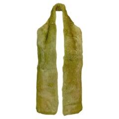 F/W 2000 Christian Dior John Galliano Green Mink Fur Long Wrap Scarf