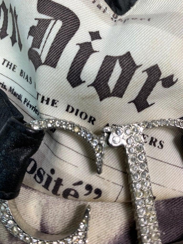 F/W 2000 Christian Dior John Galliano Newsprint Logo by Stephen Jones Top Hat For Sale 4