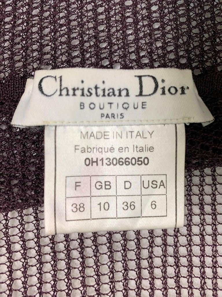 F/W 2000 Christian Dior John Galliano Sheer Fishnet Embellished Maxi Dress In Good Condition For Sale In Yukon, OK