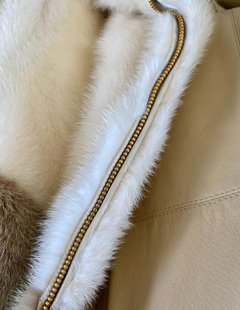 F/W 2000 Gucci by Tom Ford Tricolor Dyed Mink Zip-Up Coat Runway For Sale 2