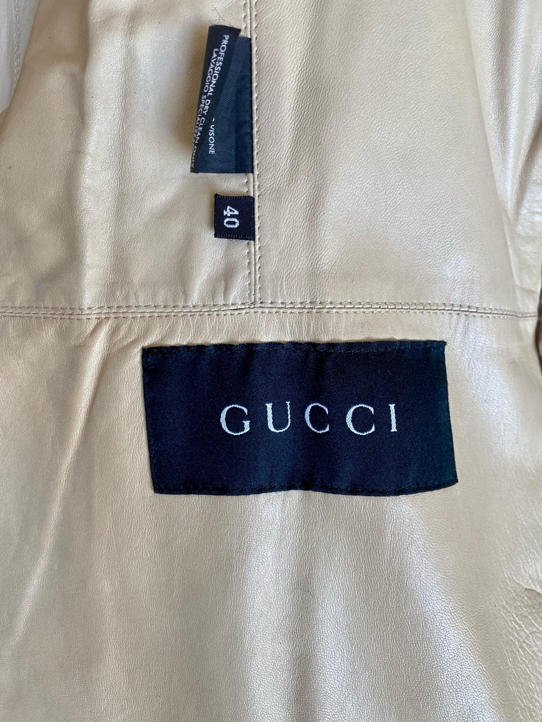 F/W 2000 Gucci by Tom Ford Tricolor Dyed Mink Zip-Up Coat Runway For Sale 4