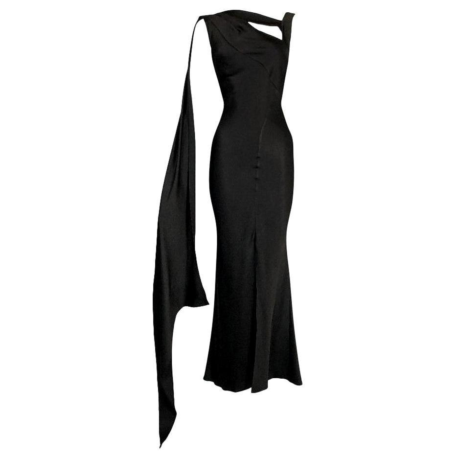 F/W 2001 Christian Dior John Galliano Brown Satin Mermaid Gown Dress