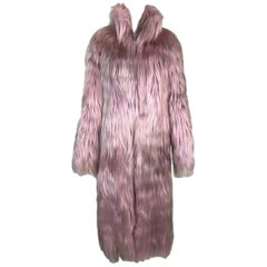 F/W 2001 Gucci by Tom Ford Runway Pink & Blonde Long Fur Coat