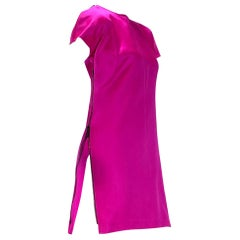 F/W 2001 Vintage Tom Ford for Gucci Hot Pink Dress with Exposed Zipper