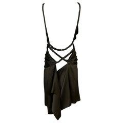 F/W 2002 Gucci Tom Ford Runway Plunging Twisted Straps Mini Dress