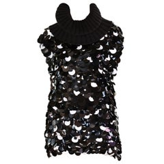 F/W 2002 Vintage Dolce & Gabbana sequin paillette embellished top / mini dress