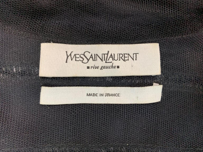 F/W 2002 Yves Saint Laurent by Tom Ford Black Silk Ribbon Cut-Out Dress In Good Condition For Sale In Yukon, OK
