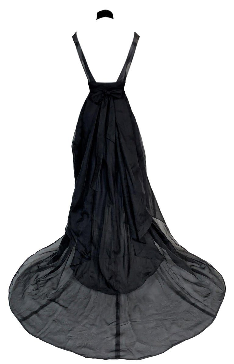 DESIGNER: F/W 2002 Yves Saint Laurent by Tom Ford runway- dress and choker were shown on the runway.   Please contact for more information and/or photos.  CONDITION: Good- no flaws but the belt is not original to the dress- we added it as it was