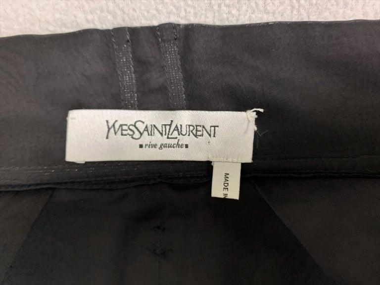 F/W 2002 Yves Saint Laurent Tom Ford Runway Sheer Black Dress w Train & Choker In Good Condition For Sale In Yukon, OK