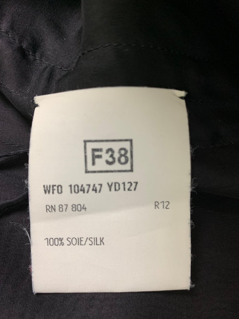 Women's F/W 2002 Yves Saint Laurent Tom Ford Runway Sheer Black Dress w Train & Choker For Sale