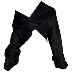F/W 2003 Dolce & Gabbana Runway Black Baggy Cropped Jacket