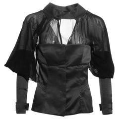 F/W 2003 Vintage Tom Ford for Gucci Black Silk Top