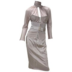 F/W 2003 Vintage Tom Ford for GUCCI nude silk corset suit as seen on Gwen