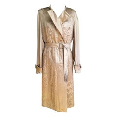 F/W 2003 Vintage Tom Ford for Yves Saint Laurent Nude Embroidered Trench Coat