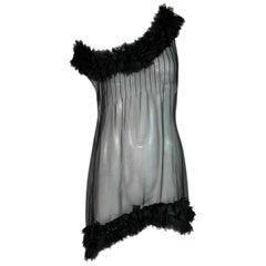 F/W 2006 Chanel Runway Sheer Silk MOD Micro Mini Dress