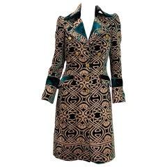 F/W 2006 Vintage Roberto Cavalli Brocade Velvet Coat